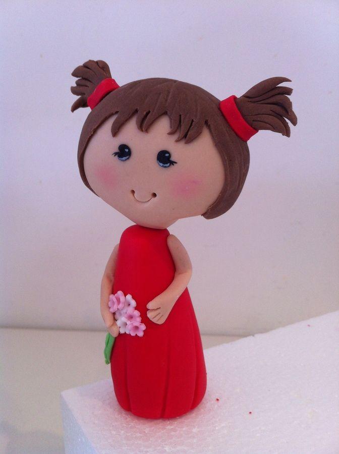 Little Girl Figurine  3D Figures  Gum Paste Figures And -7280