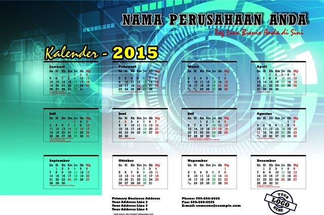 Kalender 2015 Indonesia - Design_09_Block