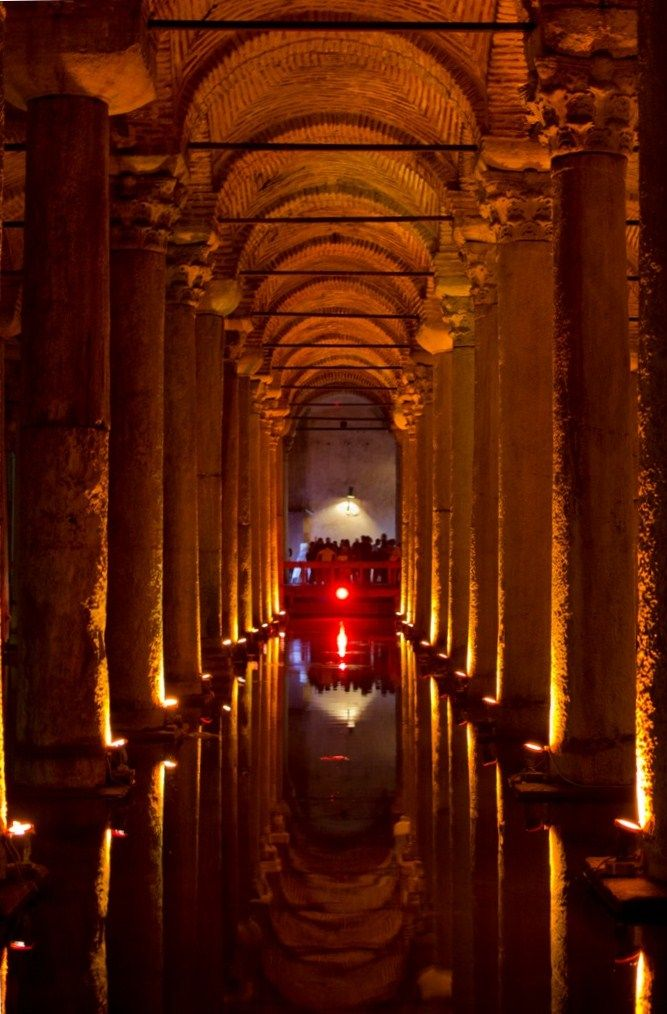 """The Basilica #Cistern or the """"Sunken Palace"""" is the largest of several hundred #ancient cisterns that lie beneath the city of #Istanbul!! Magnificent! #turkey #cruising #excursion #travel"""