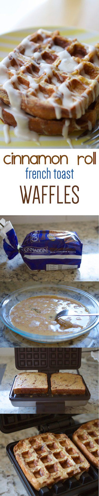 Cinnamon Roll French Toast Waffles – Lauren's Latest
