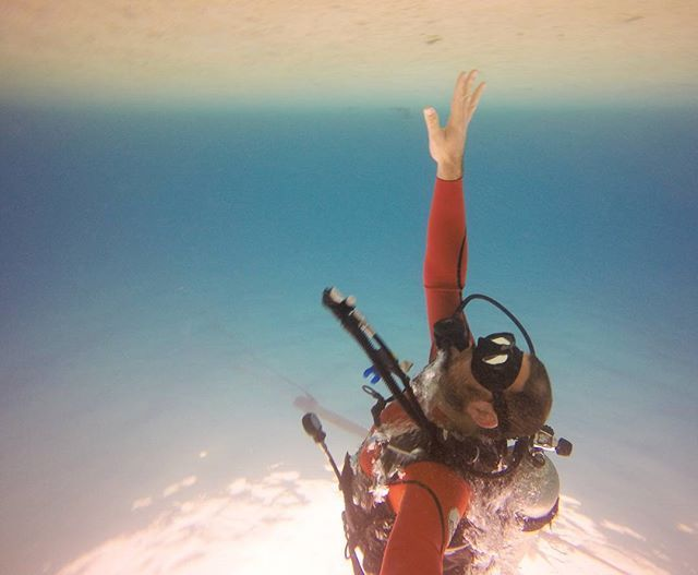Can you touch the #sky? #upsndown #ScubaDiving  #VarietyCruises Photo credits: @barakfogel