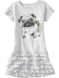 Hehe, grey pug dog dress!  Available at the Old Navy Canada kid & baby sale (Feb 7-20)!  #ONKidtacular