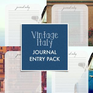 3 Journal Entry Printouts – Vintage Italy Pack // free her binder project #herbinderproject free downloadable download printable print out for christian women inspirational holy bible verse scripture pdf jpeg jpg