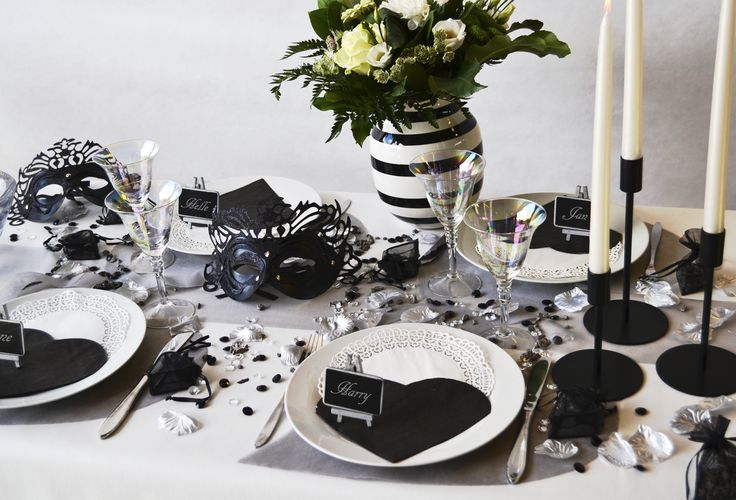 Black and white, mask table settings