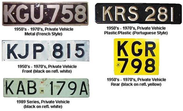 vehicle number plates registration