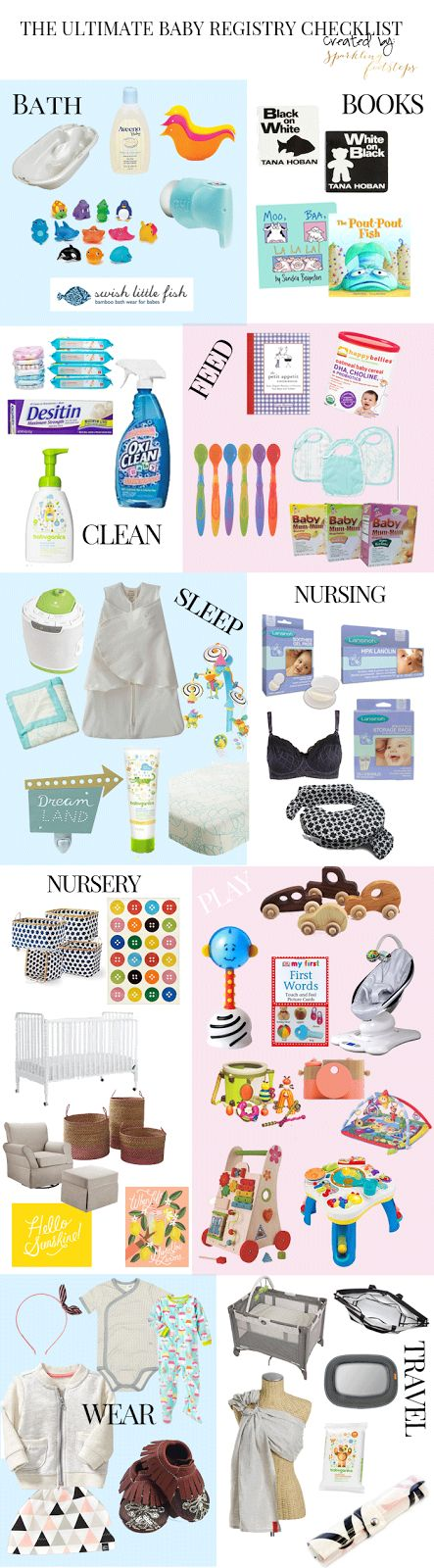 The Ultimate Baby Registry Checklist -- <3 that she mentions BabyList!