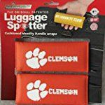 #2: Clemson Tigers Original Patented Luggage Spotter Luggage Locator / Handle Grip / Luggage Grip / Travel Bag Tag / Luggage Handle Wrap (2-pack)  Best Selling Luggage Wrap! GREAT GIFT!!