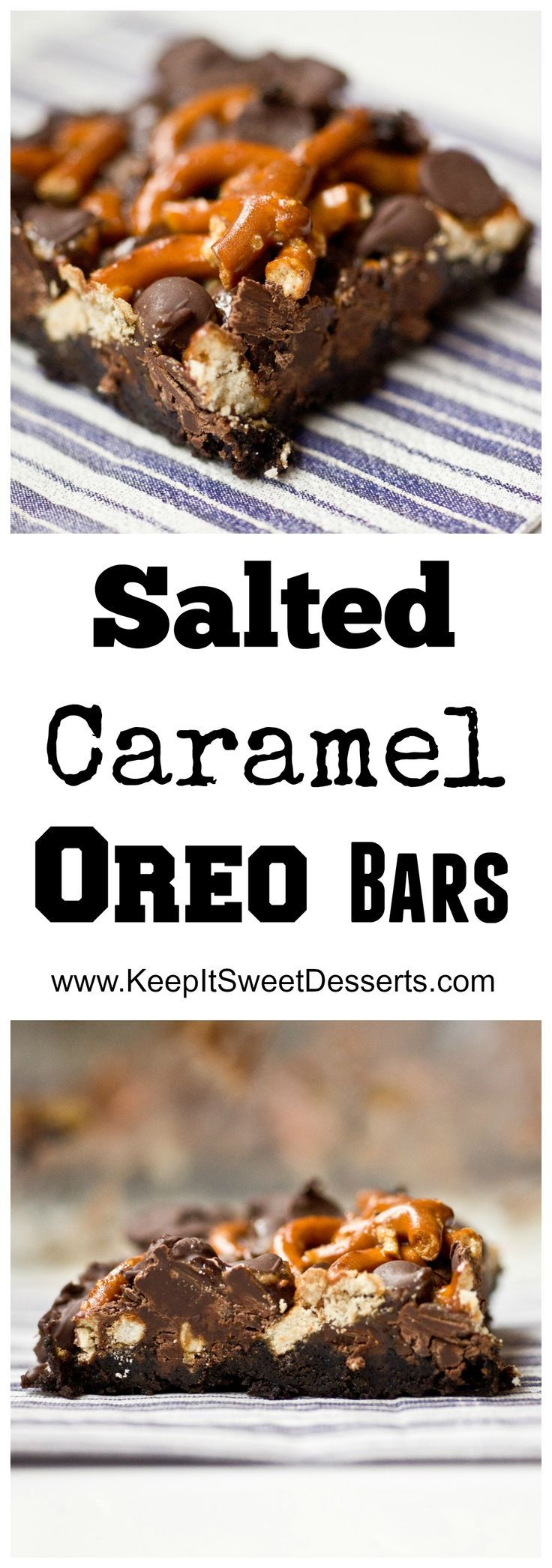 Salted Caramel Oreo Bars that are SUPER easy to make!!