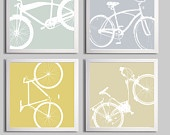 Bicycle Silhouette wall decor