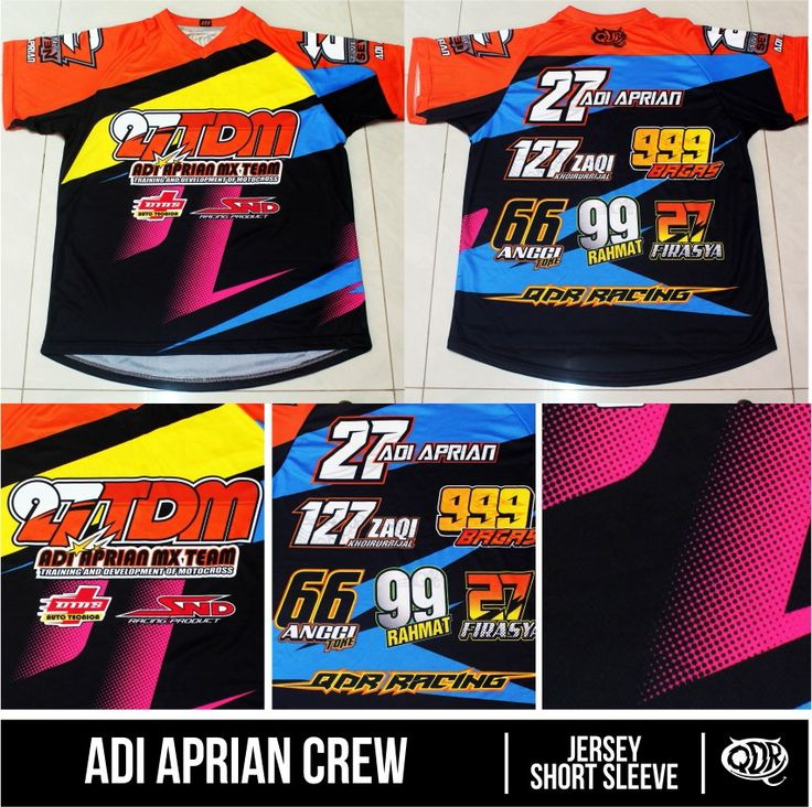 Jersey short sleeve + T-shirt + uniform Adi Aprian Crew Sublimation Print