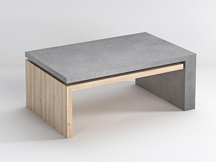 Stolik betonowy - Bettoni - Lignum - biały