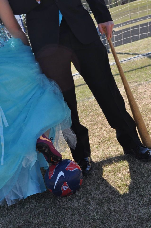 Soccer and Baseball prom pictures
