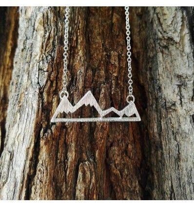 """Halskette """"Berge"""", Bergformation. Ideales Geschenk für Wander- und Bergurlaub Fans"""