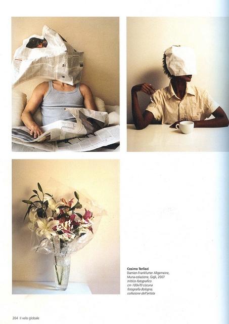 """From the Catalogue """"Il Velo"""" Trittico by COSIMO TERLIZZI [ Il Velo, Silvana Editoriale, ott. 2007, p. 264 ]"""