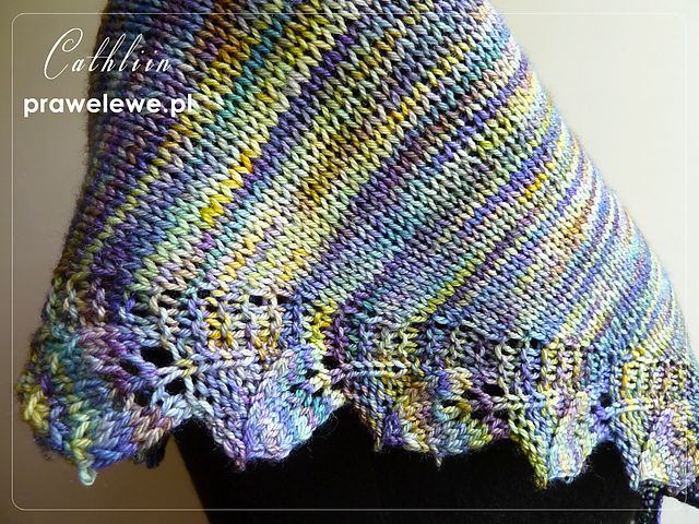 Leafy shawl in Malabrigo    Szal listkowy z Malabrigo