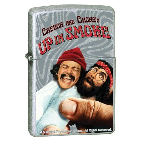 Cheech & Chong Up In Smoke Movie Paramount Pictures Street Chrome Zippo Lighter by Cheech & Chong