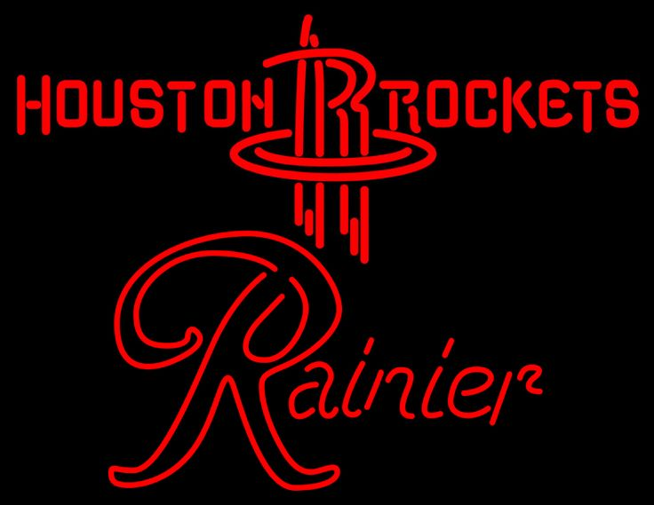 Rainier Houston Rockets NBA Neon Beer Sign, Rainier with NBA | Beer with Sports Signs. Makes a great gift. High impact, eye catching, real glass tube neon sign. In stock. Ships in 5 days or less. Brand New Indoor Neon Sign. Neon Tube thickness is 9MM. All Neon Signs have 1 year warranty and 0% breakage guarantee.