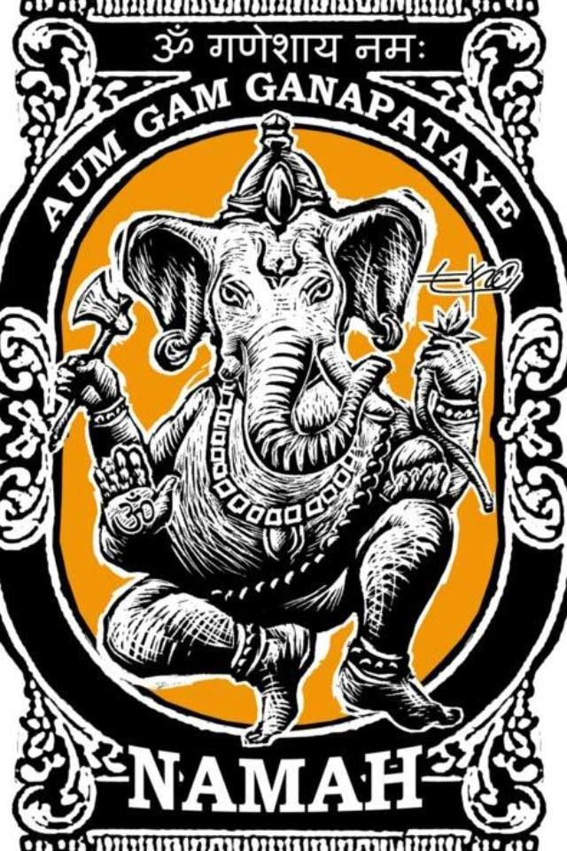 Ganesh mantra: to live a peaceful life control your passions and yourself. Don't try to control other's life. Mind your business. Look for your inner peace. Namastè.