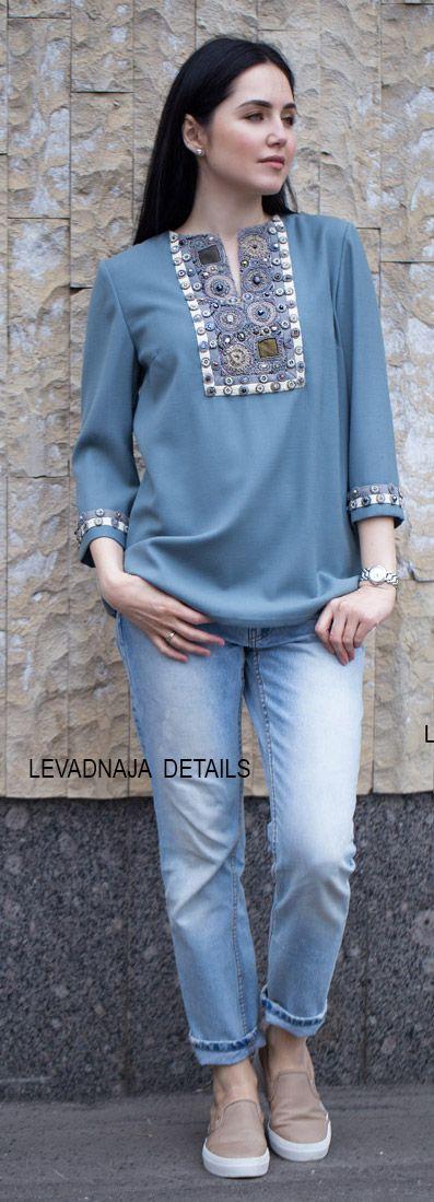 Блуза LEVADNAJA DETAILS. Вышивка.