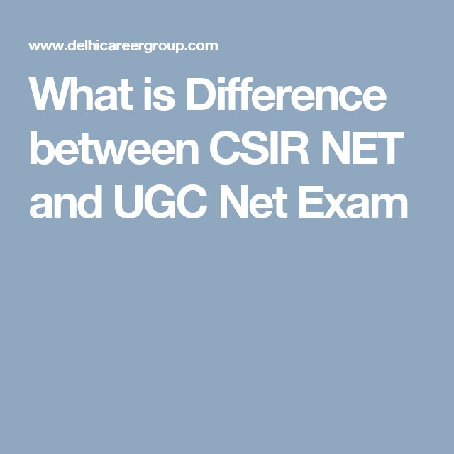 What is Difference between CSIR NET and UGC Net Exam