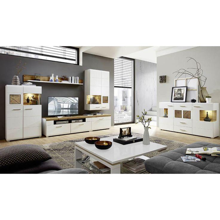 Die besten 25+ Wohnwand günstig kaufen Ideen auf Pinterest - wohnzimmermöbel weiß hochglanz
