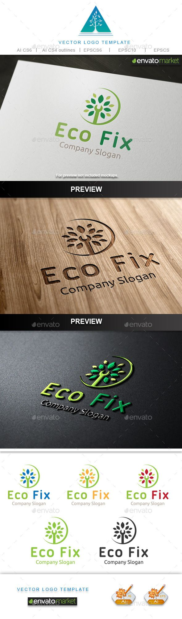 Eco Fix Logo by Aestro Eco Fix Logo design for creative studio company. Featured:AI CS4 Document EPS 10 Document PDF Document CMYK100 % Vector (Re-sizabl