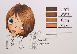 Heather's Hobbie Haven - Hair Color 55 - Copic Markers...