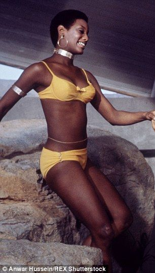 Role model: Trina Parks made history as the first African-American actress to be cast as a Bond girl - she starred opposite Sean Connery as James Bond in 1971's Diamonds Are Forever