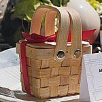 Miniature woven picnic basket favors