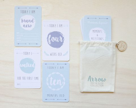Milestone and Moment Cards - Baby Boy Mint Collection (Unisex)
