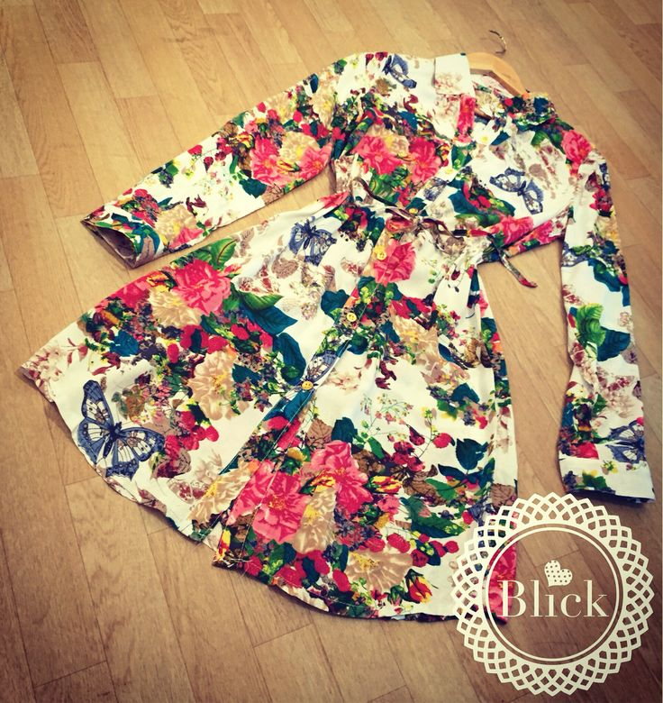 Vestido De flores en chalis  #modablick #blick