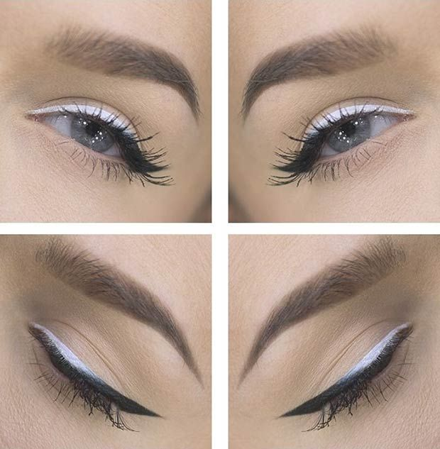 Black and White Ombre Eyeliner