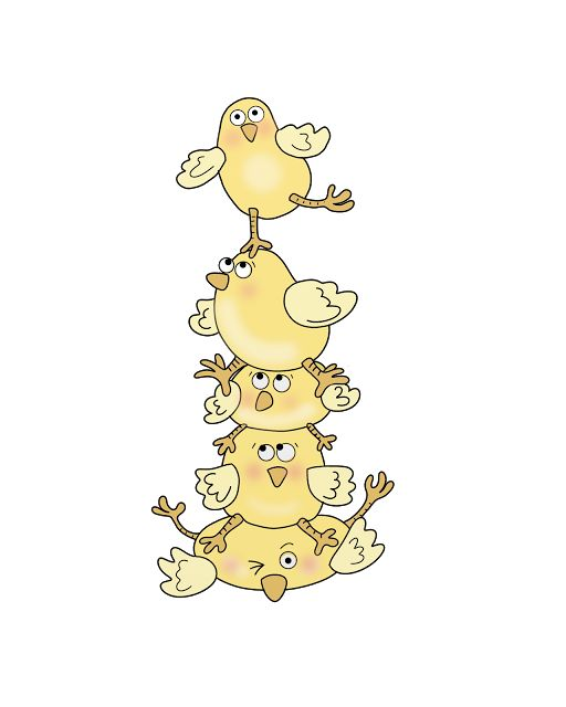 Sj's - Little Musings: Free digital stamp = Easter chick pile! - free digi, coloured and black line only