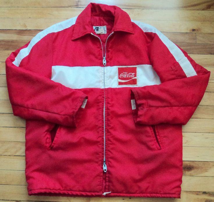 Vintage 80's Coca-Cola 100% Nylon Large Jacket VTG by StreetwearAndVintage on…