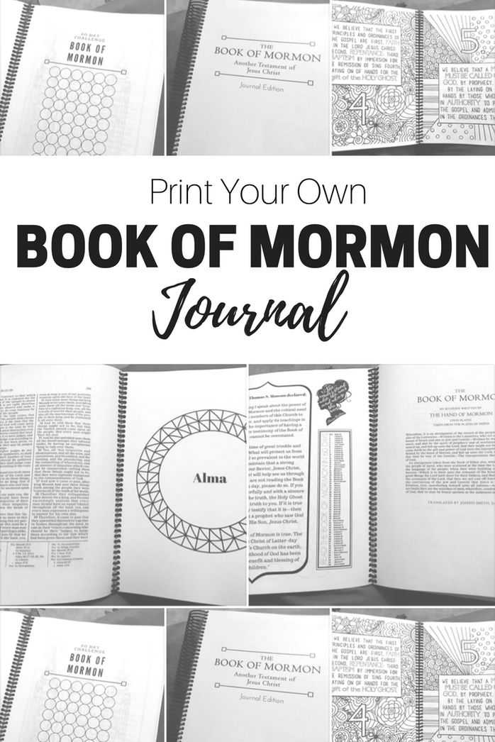 Yesterday I posted about the 60 day Book of Mormon Challenge. Today while I stayed home from church with my sick son, I found this fun new way to journal while you read the scriptures. It is called…