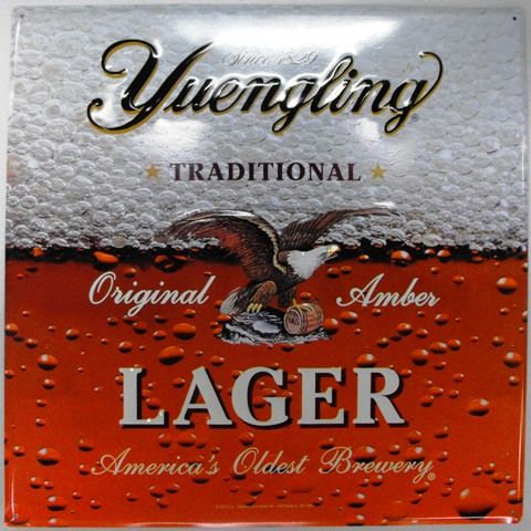 Yuengling - Signs - Lager Metal Sign