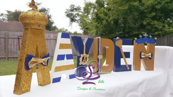 Royal Prince baby shower letters by SophisticatedLife | Etsy