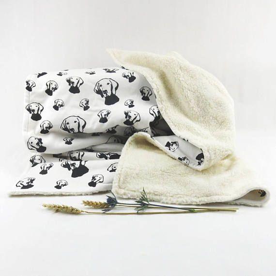 Vizsla Organic Cotton And Plush Baby Blanket Monochrome