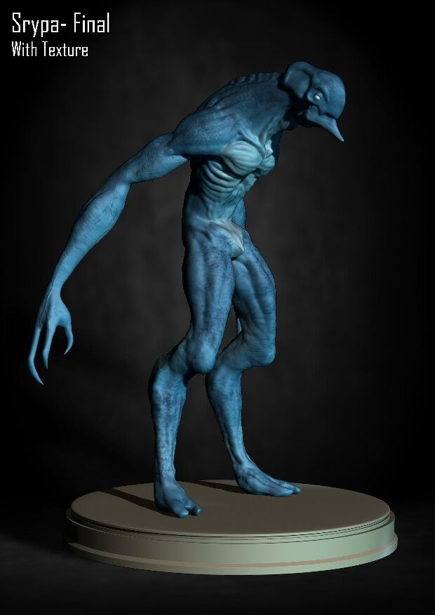 Zbrush Alien Concept with textures