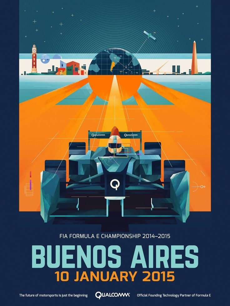 Formula E Championship Posters on Behance