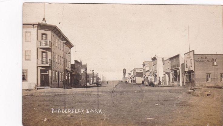 RP; Main Street (dirt) , KINDERSLEY, Saskatchewan, Canada , PU-1914