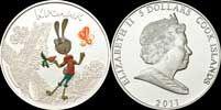 Серебряная монета Кролик, серия Мультфильмы (О-ва Кука, 2011 год)