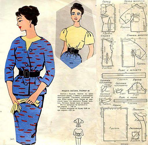 Мобильный LiveInternet Рисованные журналы мод с чертежами выкроек | Nelya_Gerbekova - Дневник любознательной женщины |
