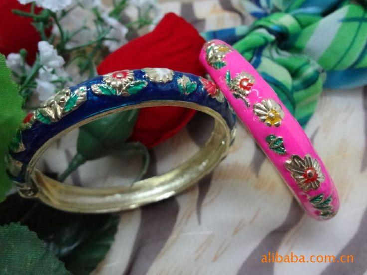 бесплатная доставка браслеты для женщин чистого традиционные cloisonne медные украшения bangel pulseiras feminias манжеты браслеты из индийских 7.35