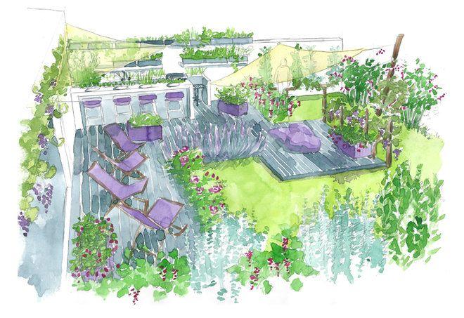Réalisation d'un jardin gourmand // http://www.deco.fr/jardin-jardinage/jardin-ornement/actualite-591116-amenager-jardin-gourmand-conseil-paysagiste.html #jardin