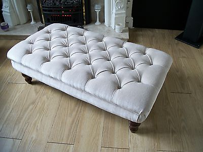 Chesterfield style #oxford deep #buttoned large footstool / coffee table / #ottom,  View more on the LINK: http://www.zeppy.io/product/gb/2/321844423398/