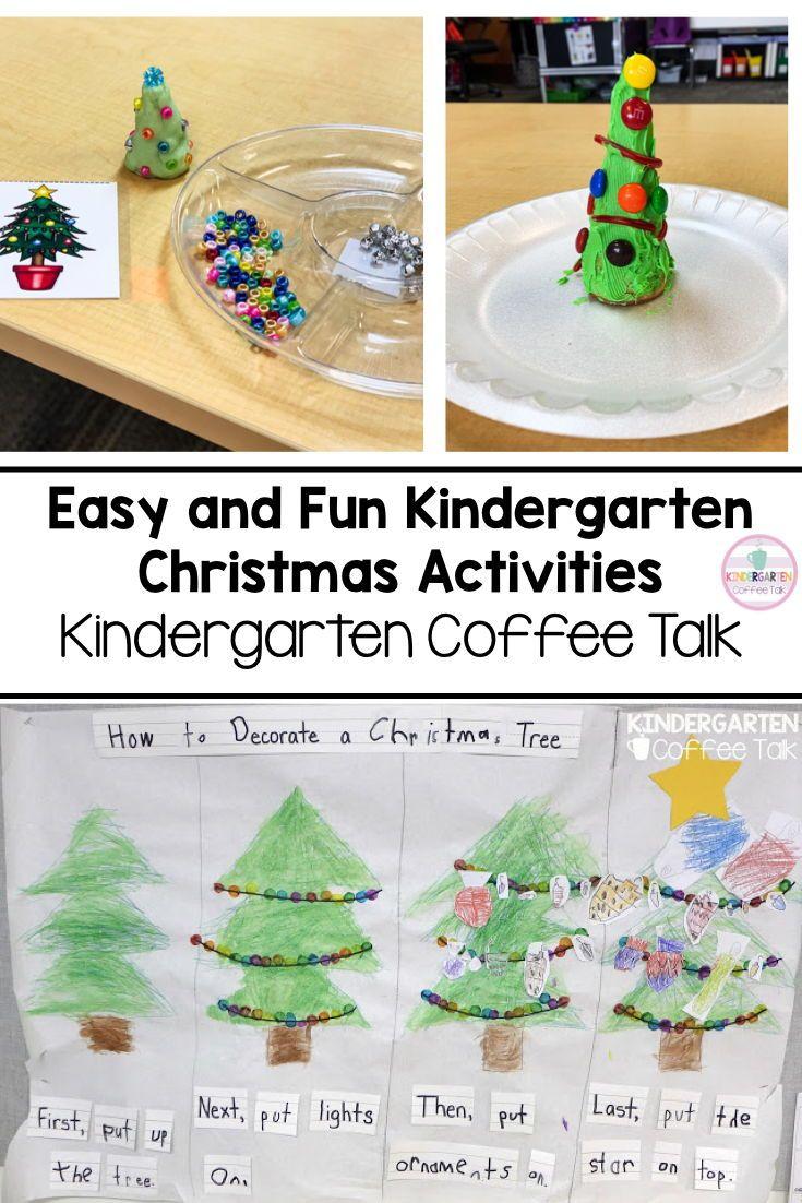 Kindergarten Coffee Talk Kindergarten Christmas Activities Christmas Activities Christmas Kindergarten