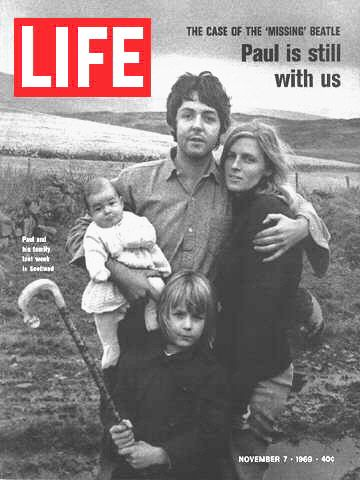 10-22 in 1969: An understandably miffed and somewhat confused Paul McCartney issues an official press release through Apple stating that he is not, in fact, dead, and then retires to his farm in Scotland (where Life magazine will track him down to further prove his not-deadness).Gads this was like a bad penny - the story just would not go away despite it was all a total hoax.
