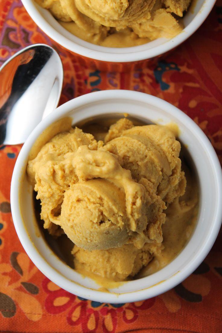 Paleo & Vegan Pumpkin Ice Cream - Nut Free