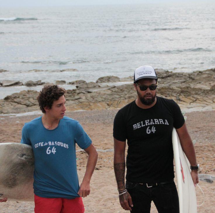 Tee-shirt Spot de Surf - Côte des Basques - Belharra - Cenitz - La marque 64 - http://www.64.eu/categorie/homme/surf.html